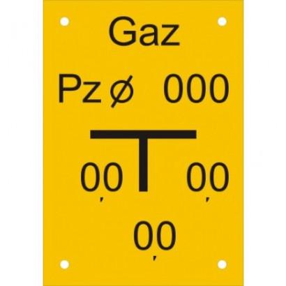 Znak - Tablica punktu załamania gazociągu JC009