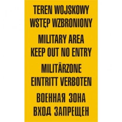Teren wojskowy wstęp wzbroniony