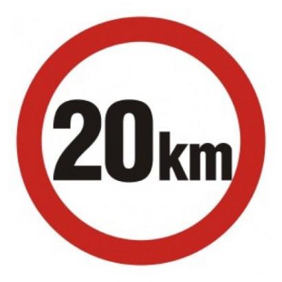Ograniczenie prędkości 20 km
