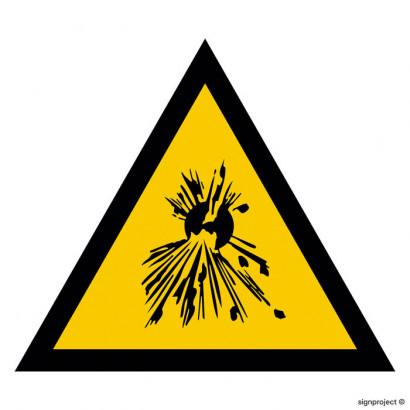 Ostrzeżenie przed substancjami wybuchowymi
