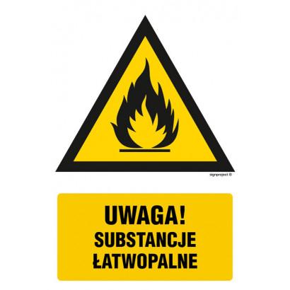 Ostrzeżenie przed substancjami łatwopalnymi