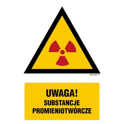 Ostrzeżenie przed substancjami promieniotwórczymi