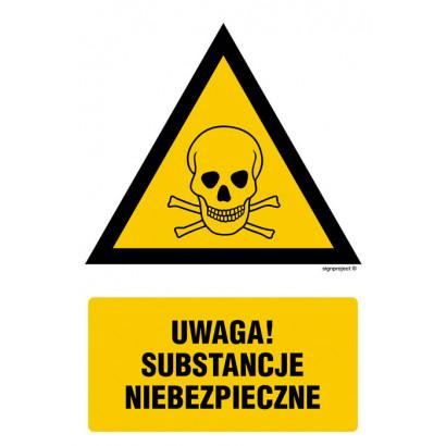 Uwaga substancje niebezpieczne