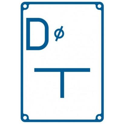 Tablica orientacyjna dla zasuwy na połączeniu