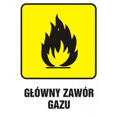 Znak - Główny zawór gazu 2 JD002