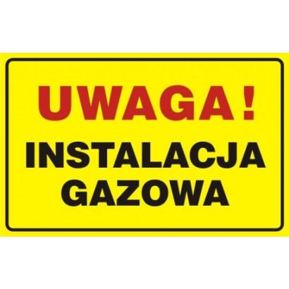 Znak - Uwaga! Instalacja gazowa JD018