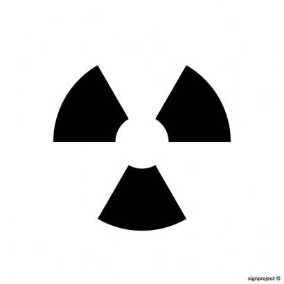 Znak ostrzegawczy do oznakowania zamkniętego żródła promieniowania