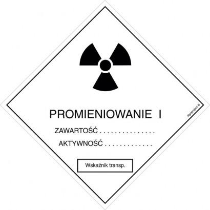 Znak ostrzegawczy do oznakowania przesyłek transportowych kategorii I