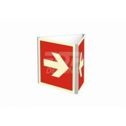 Kierunek do miejsca rozmieszczenia sprzętu pożarniczego w lewo (3D naścienny)