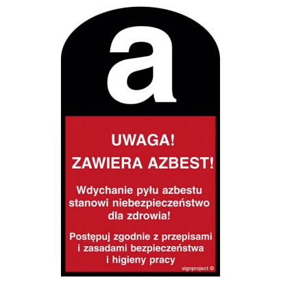 Uwaga! Zawiera azbest
