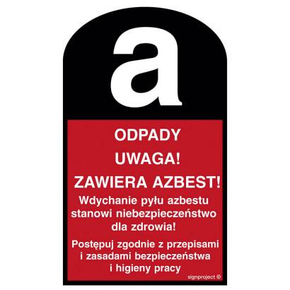 Odpady Uwaga! Zawiera azbest