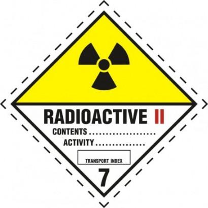 Materiały promieniotwórcze w opakowaniu. Klasa 7. Kategoria II - Żółta