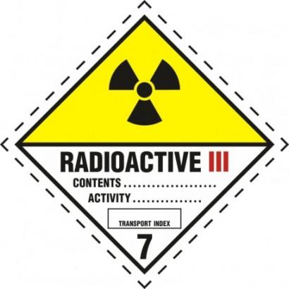 Materiały promieniotwórcze w opakowaniu. Klasa 7. Kategoria III - Żółta