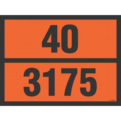 Tablica pomarańczowa z dowolnym numerem