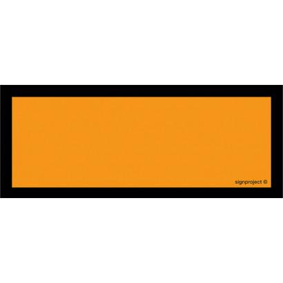 Tablica pomarańczowa pusta - pojedyncza