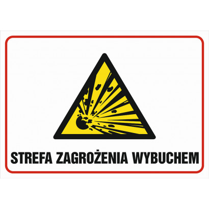 Znak - Strefa zagrożenia wybuchem NB008