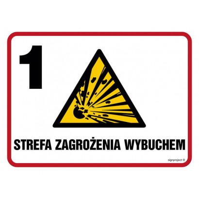 Znak - Strefa zagrożenia wybuchem Z-1 NB009