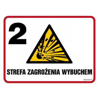 Znak - Strefa zagrożenia wybuchem Z-2 NB010