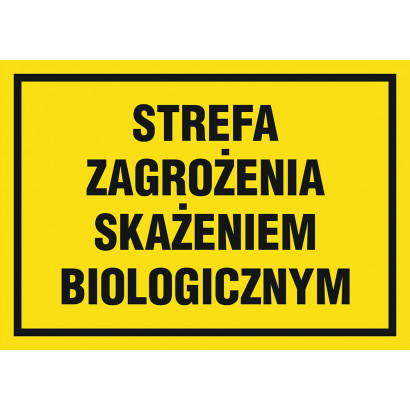 Znak - Strefa zagrożenia skażeniem biologicznym NB031