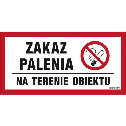 Zakaz palenia na terenie obiektu