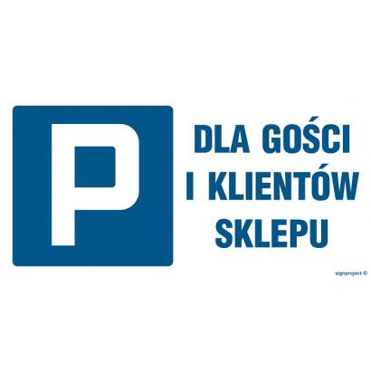 Parking dla gości i klientów sklepu