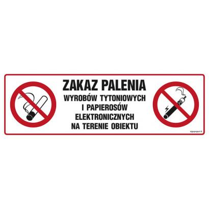 Zakaz palenia wyrobów tytoniowych i papierosów elektronicznych na terenie obiektu