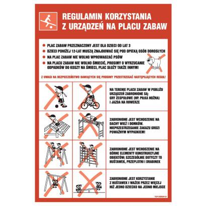 Regulamin korzystania z urządzeń na placu zabaw