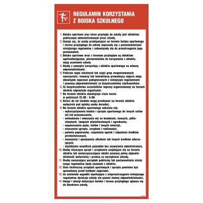 Regulamin korzystania z boiska szkolnego