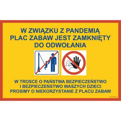 Informacja o zamknięciu placu zabaw w związku z pandemią