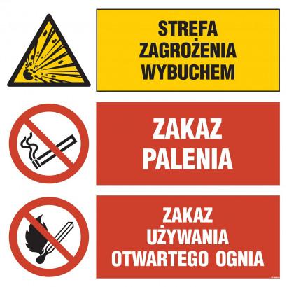 Strefa zagrożenia wybuchem, Zakaz palenia, Zakaz używania otwartego ognia