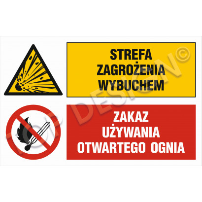 Strefa zagrożenia wybuchem, Zakaz używania otwartego ognia