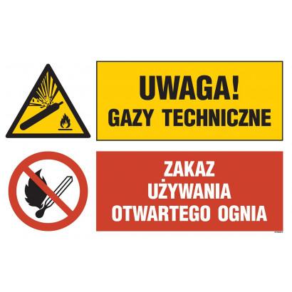 Uwaga! gazy techniczne, Zakaz używania otwartego ognia