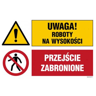 Uwaga! roboty na wysokości, Przejście zabronione