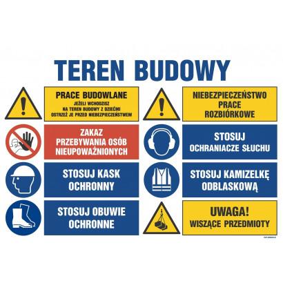 Teren budowy, Prace budowlane, jeżeli wchodzisz na teren budowy z dziećmi ostrzeż je przed niebezpie