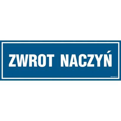 Znak - Zwrot naczyń PA097