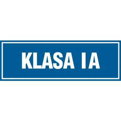 Znak - Klasa 1A PA168
