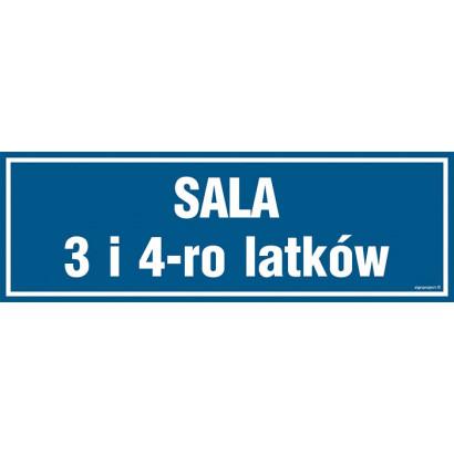 Znak - Sala 3 i 4-ro latków PA174
