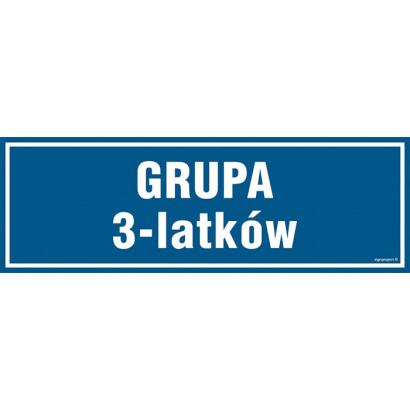 Znak - Grupa 3 latków PA187