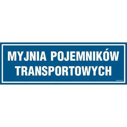 Znak - Myjnia pojemników transportowych PA284