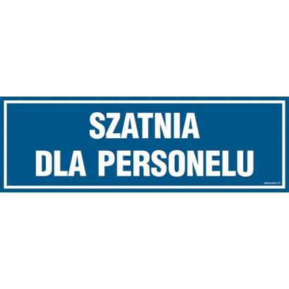 Znak - Szatnia dla personelu PA301