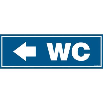 Znak - WC Kierunek w lewo PA309