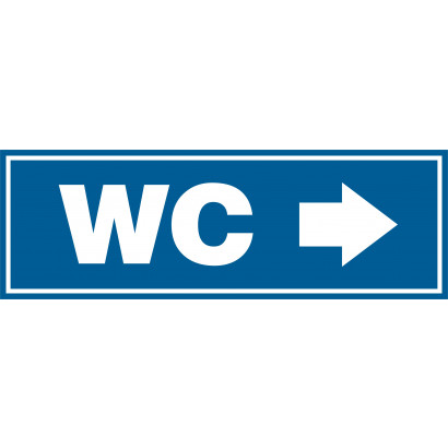 Znak - WC Kierunek w prawo PA310