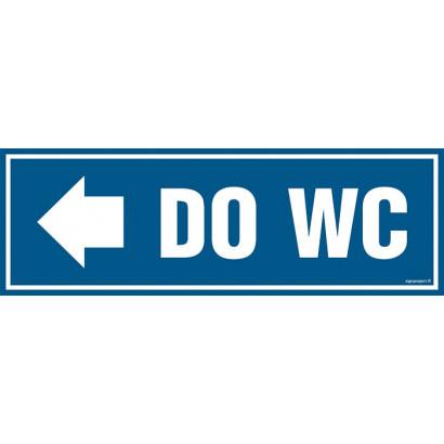 Znak - Do WC - w lewo PA311