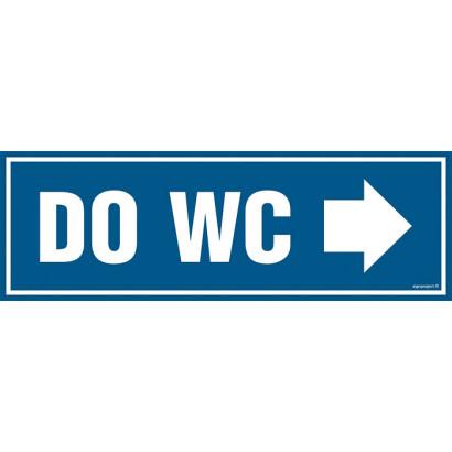 Znak - Do WC - w prawo PA312