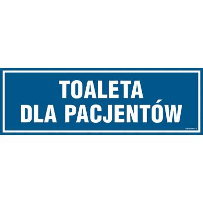 Znak - Toaleta dla pacjentów PA314