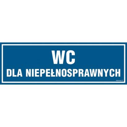 Znak - WC dla niepełnosprawnych PA320