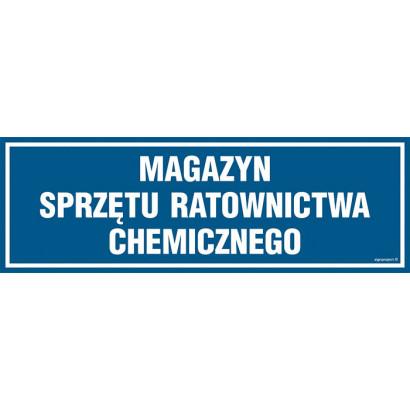 Magazyn sprzętu ratownictwa chemicznego