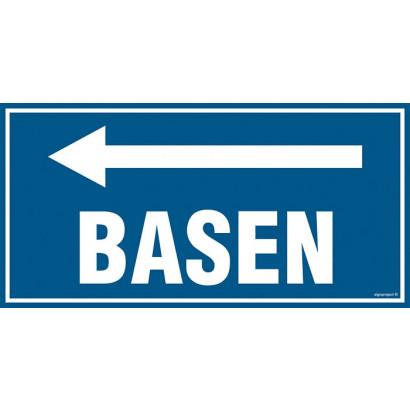 Znak - Basen - w lewo PA501