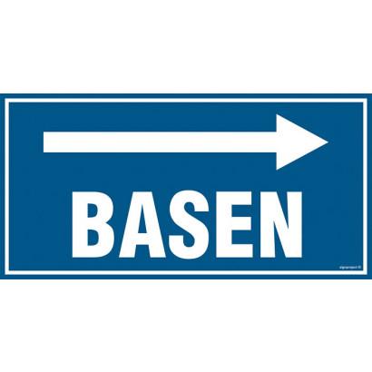 Znak - Basen - w prawo PA502