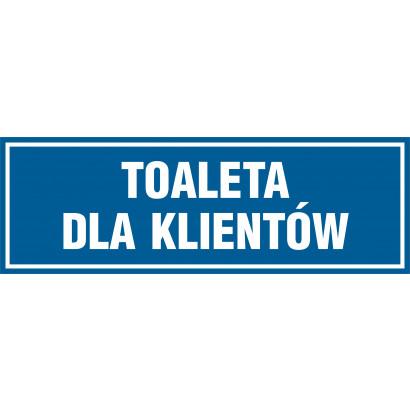 Znak - Toaleta dla klientów PA620